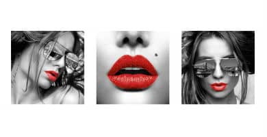 pósters de labios