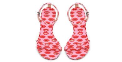 sandalias de labios